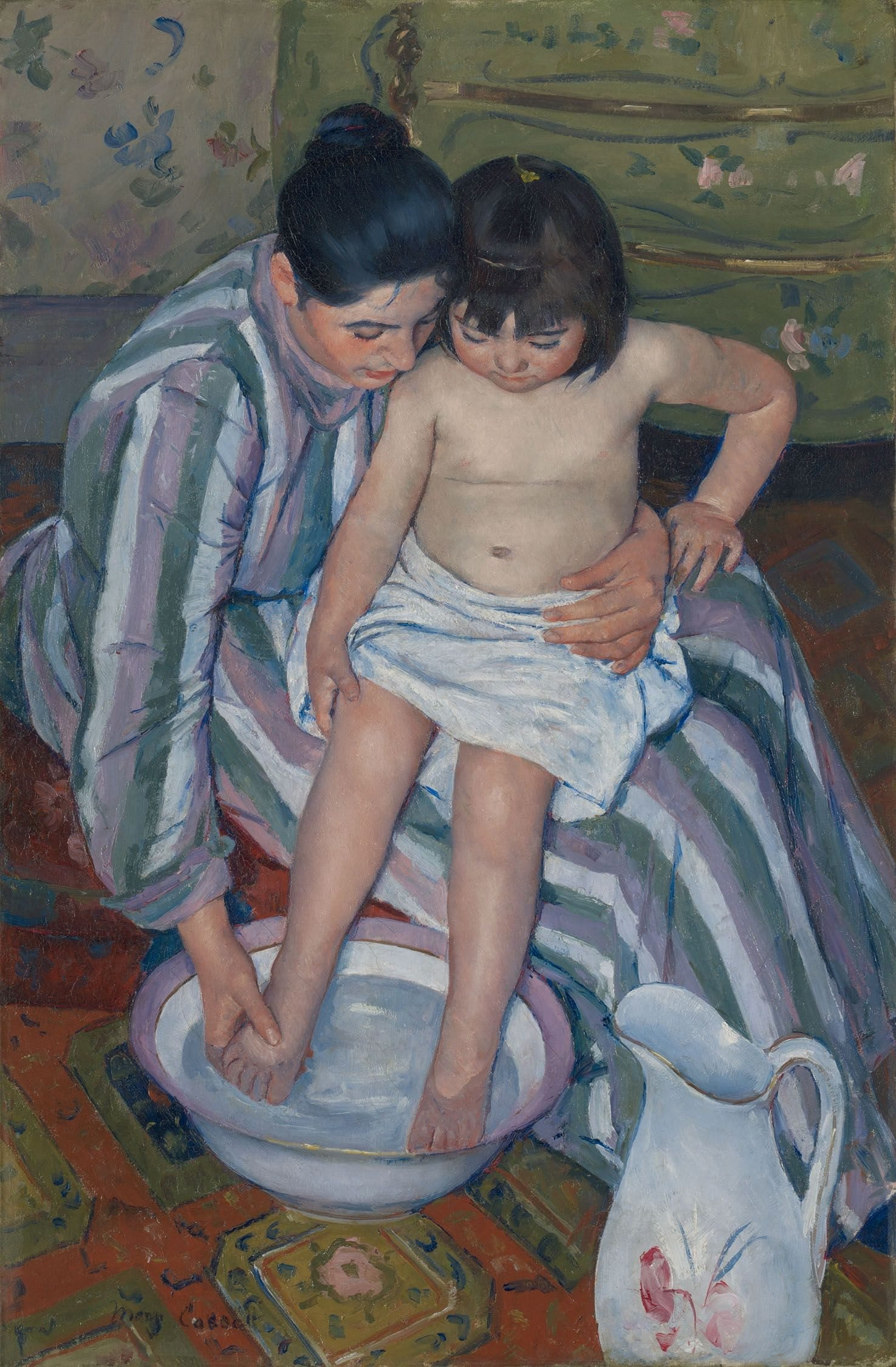 The Childs Bath by Mary Cassatt 1893 @ The Art Institute of Chicago