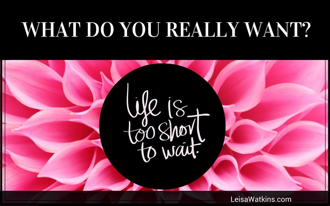 What Do You Really Want? Life is to Short to Wait for It