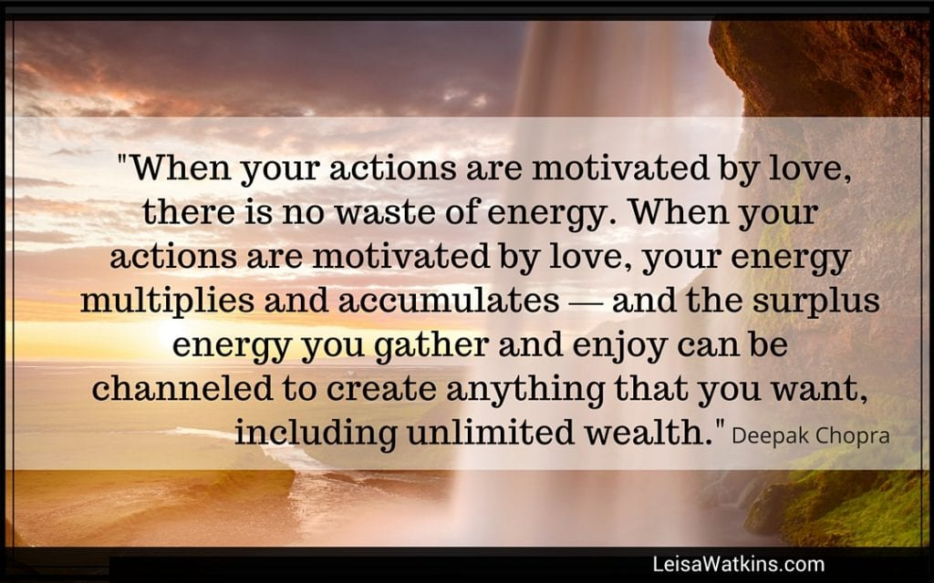 When Actions are Motivated by Love